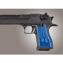 Desert Eagle Flames Aluminum - Blue Anodize