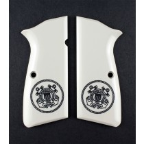 Browning Hi-Power Scrimshaw Ivory Polymer - Coast Guard