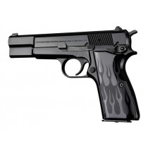 Browning Hi-Power Flames Aluminum - Black Anodized