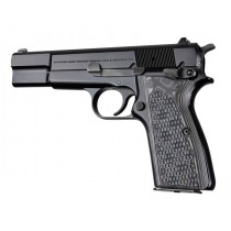 Browning Hi-Power Piranha Grip G10 - G-Mascus Black/Gray