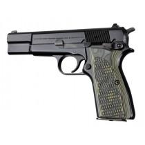 Browning Hi-Power Piranha Grip G10 - G-Mascus Green