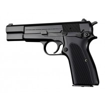 Browning Hi-Power Checkered Aluminum - Matte Black Anodized
