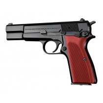 Browning Hi-Power Checkered Aluminum - Matte Red Anodized
