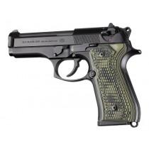 Beretta 92FS Piranha Grip G10 - G-Mascus Green