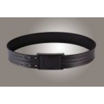 "2"" Black 44"" Waist Duty Belt Nytek Lining 4 Row Stitching with 1 Piece Safety Buckle Polymer"