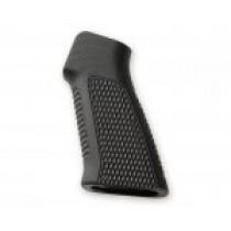 AR15 / M16 No Finger Groove Piranha Grip G10 - Solid Black