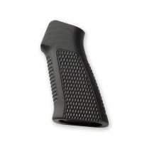 AR15 / M16 No Finger Groove Piranha Grip G10 - Solid Black