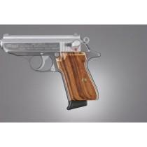 Walther PPK/S & PP: Checkered Hardwood Grip Panels - Goncalo Alves