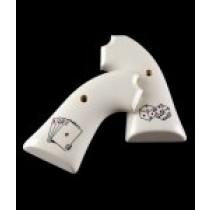 Ruger Bisley Scrimshaw Ivory Polymer - Aces w/Dice