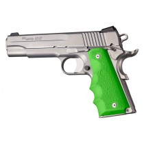 1911 Govt. Model: Cobblestone Rubber Grip with Finger Grooves - Zombie Green