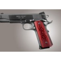 1911 Govt. Aluminum Magrip Kit - Tribal Flat Mainspring Matte Red