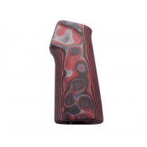 AR15 / M16 15 Degree Vertical No Finger Groove Smooth G10 - G-Mascus Red Lava