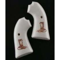 Ruger Bisley Scrimshaw Ivory Polymer - Boot & Rope