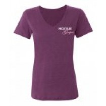Hogue Grips Women V-Neck T-Shirt Large Purple