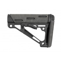 AR-15 / M16: OverMolded Collapsible Buttstock (Fits Mil-Spec Buffer Tube) - Ghillie Green