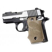 SIG Sauer P938 Ambi Safety Rubber Grip with Finger Grooves Flat Dark Earth