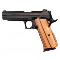 SIG P210 American: Smooth Hardwood Grip - Goncalo Alves