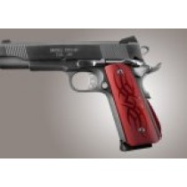 1911 Govt. Aluminum Magrip Kit - Tribal Arched Matte Red