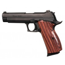 SIG P210 American: Smooth Hardwood Grip - Kingwood