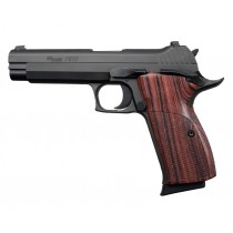 SIG P210 American: Checkered Hardwood Grip - Kingwood