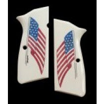 Browning Hi-Power Scrimshaw Ivory Polymer - American Flag