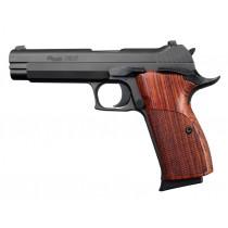 SIG P210 American: Checkered Hardwood Grip - Cocobolo