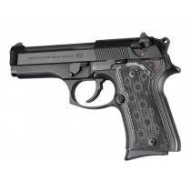 Beretta 92 Compact Checkered G10 - G-Mascus Black/Gray