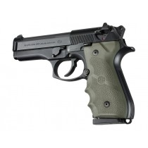 Beretta 92/96 Series Rubber Grip with Finger Grooves OD Green