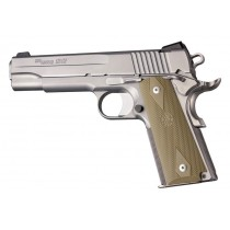 1911 Govt. Model: Checkered Rubber Grip Panels with Diamonds - FDE