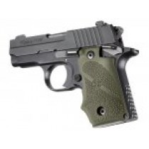 SIG Sauer P238 Rubber Grip with Finger Grooves OD Green
