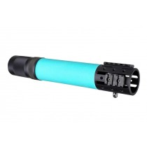 AR-15 / M16: (Rifle Length) OverMolded Free Float Forend with Accessory Attachments - Aqua