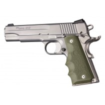 1911 Govt. Model: Cobblestone Rubber Grip with Finger Grooves - OD Green