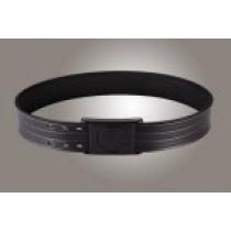 "2"" Black 38"" Waist Duty Belt Nytek Lining 4 Row Stitching with 1 Piece Safety Buckle Polymer"
