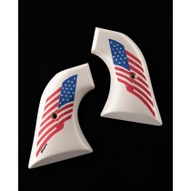Colt Single Action Scrimshaw Ivory Polymer - American Flag