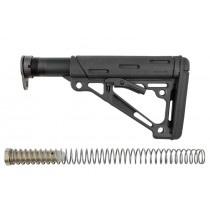 AR-15 / M16: OverMolded Collapsible Buttstock Assembly (Includes Mil-Spec Buffer Tube & Hardware) - Black