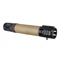 AR-15 / M16: (Rifle Length) OverMolded Free Float Forend with Accessory Attachments - FDE
