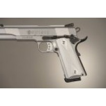 1911 Govt. Model 9/32 Thick Checkered Aluminum - Brushed Gloss Clear Anodized