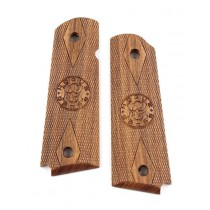 1911 Govt. Model Pau Ferro Checkered Hogue Grips Logo