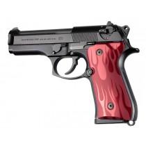 Beretta 92FS Flames Aluminum - Red Anodize