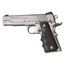 1911 Govt. Model: Cobblestone Rubber Grip with Finger Grooves - Black