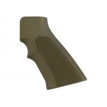 AR15 / M16 Checkered Aluminum - Matte Green Anodize