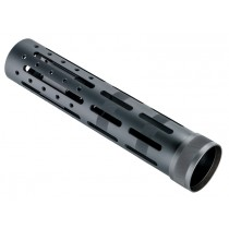 "AR-15 / M16: Knurled Aluminum 9.5"" OAL 3 Gun Free Float Forend Extension with Accessory Attachments"