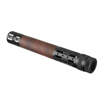 AR-15 / M16: (Extended Length) OverMolded Free Float Forend with Accessory Attachments - Red Lava