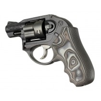 Ruger LCR/LCRx: Black/Grey Smooth G-Mascus G10 Grip