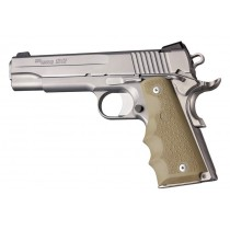 1911 Govt. Model: Cobblestone Rubber Grip with Finger Grooves - FDE