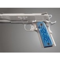 1911 Govt. Model 9/32 Thick Tribal Aluminum - Blue Anodized