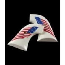 New XR3 Blackhawk/Vaquero Scrimshaw Ivory Polymer - American Flag