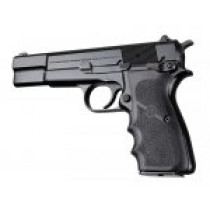 Browning Hi-Power Rubber grip with Finger Grooves Black