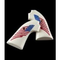 Ruger Bisley Scrimshaw Ivory Polymer - American Flag