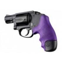 S&W J Frame Round Butt Centennial/Polymer Bodyguard Rubber Tamer Grip Purple